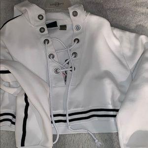fenty x puma lace up hoodie